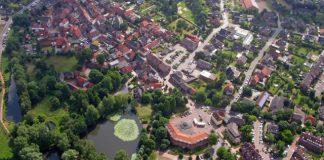 Luftbild Rathaus Schermbeck, Bücherei