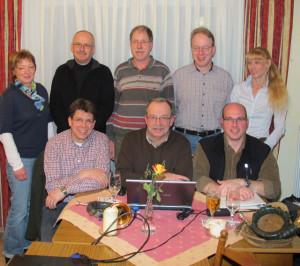 Zum ersten Mal in der fast fünfjährigen Geschichte haben die Gahlener Jagdhornbläser einen kompletten Vorstand. Foto Scheffler