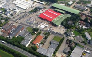 Blick auf Schermbecks größtes Gewerbegebiet  am Heetwinkel im Juli 2012. Luftbild Scheffler