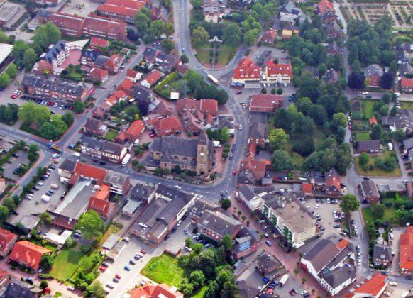 Ludgeruskirche-Luftaufnahme Schermbeck
