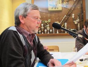 Als Leiter der Schießgruppe Damm berichtete Friedhelm Heyne über die sportlichen Erfolge der Schießsportler. Foto Scheffler