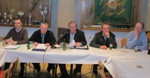 Der Vorstand des Dammer Schützenvereins berichtete am Freitag über das Vereisngeschehen. Foto Scheffler