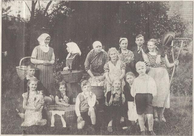 Die Gahlener Laienspielschar im Jahre 1937