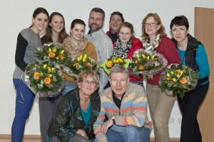 Der Vorstand gratulierte den Jubilaren. Foto: Ulrike Pollmann