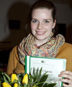Für 15-jährige Mitgliedschaft wurde Miriam Hötting geehrt. Foto: Ulrike Pollmann