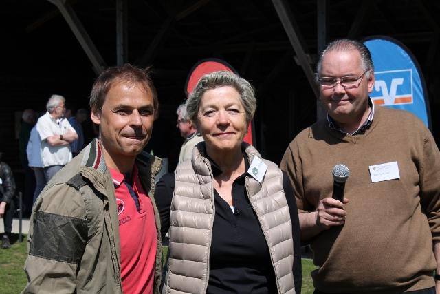 Schirmherr Olfaf Thon, Präsidentin Ursula Paul und Vorsitzender vom GSV Walter Kutsch zeigten sich zufrieden