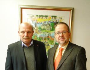 Von links: DGB Kreisvorsitzender Michael Rittberger, Landrat Dr. Ansgar Müller