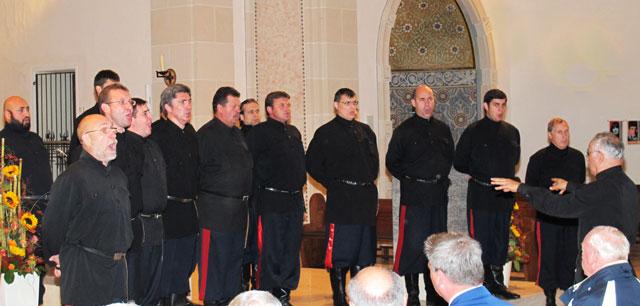 Die Don Kosaken Serge Jaroff gastierten in der Schermbecker Ludgeruskirche. Foto Scheffler