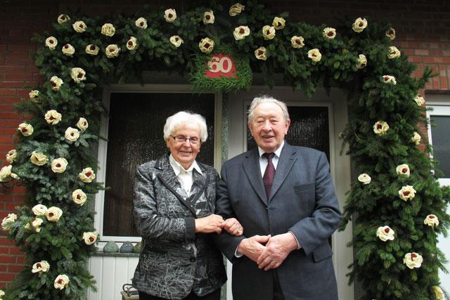 Maria und Johann Bienbeck sind seit 60 Jahren verheiratet. Foto Scheffler