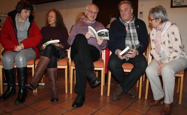 """Bei der Buchvorstellung """"die Spinne"""" unterhielten sich die Autoren Hesse und Wirt mit den Besuchern"""