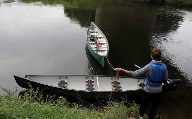 Ruhig und gemütlich präsentiert sich die Lippe an der Booteinlassstelle in SChermbeck...Sie kann aber auch ganz anders