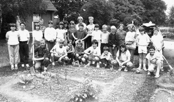 Die Klasse 4a der Gemeinschaftsgrundschule im Juni 1988. Foto Scheffler