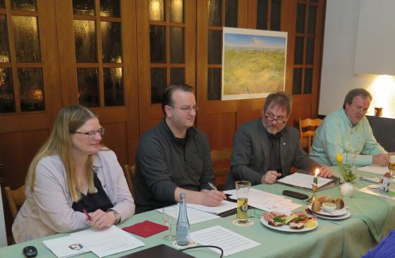 Ein starkes Vorstandsteam (v.l.) Friederike Venohr, Elmar Venohr, Dirk Kühnert, Ernst-Hermann Goebel. Foto Scheffler