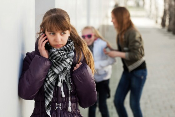 Teenage girl calling on the cell phone
