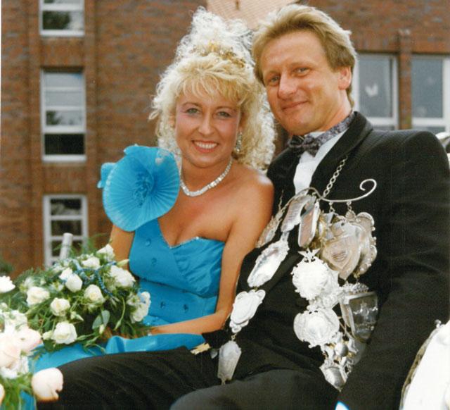 Dsa Königspaar des Jahres 1990: Brigitte Janßen und Siegfried Mika. Repro: Helmut Scheffler