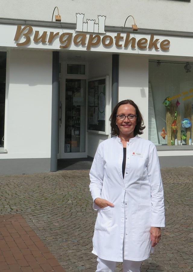 Dr. Heidrun Hoch leitet seit 20 Jahren die Schermbecker Burg-Apotheke. Foto: helmut Scheffler