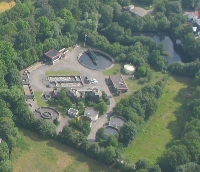Luftaufnahme Kläranlage Schermbeck