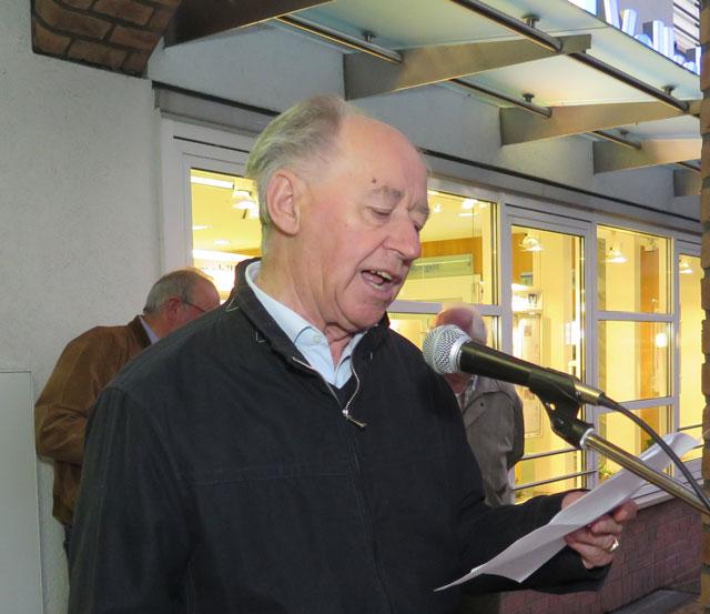 Hans Zelel hielt die Festrede beim Schermbecker Erntedankfest. Foto: helmut Scheffler