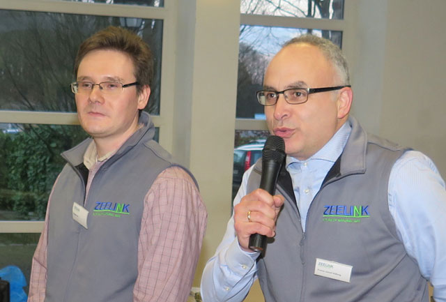 Eugen Ott und Franz-Josef Kissing (v.l.) stellten das ZEELINK-Projekt in Schermbeck vor. Foto: Helmut Scheffler