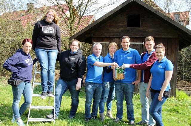 An der Aktion beteiligt waren: Nadine Anschütz, Rebeca Marstell, Sophia Schetter, Nicolai Boing, Susanne vogel, Sven Olbrich, Hendrik Bienbeck und Annika Friedrich(v. l.).