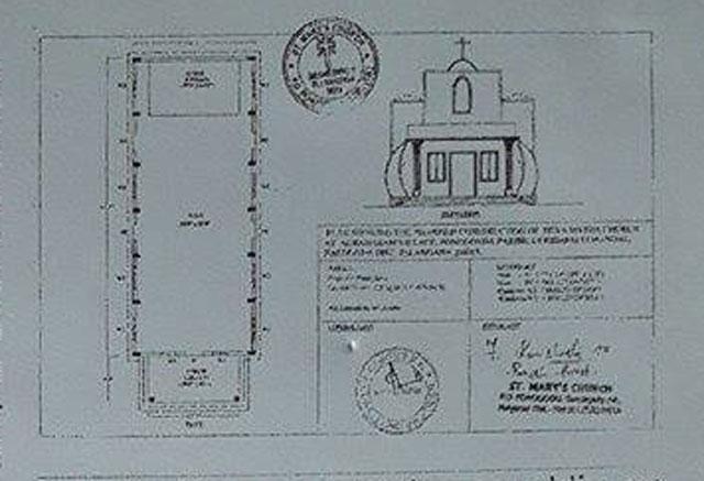 So soll die Kirche in der indischen Gemeinde Ponugodu aussehen. Repro: Helmut Scheffler