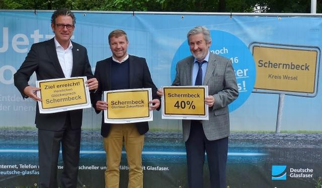 Deutsche Glasfaser Schermbeck Bürgermeister Rexforth,Ingo Teimann