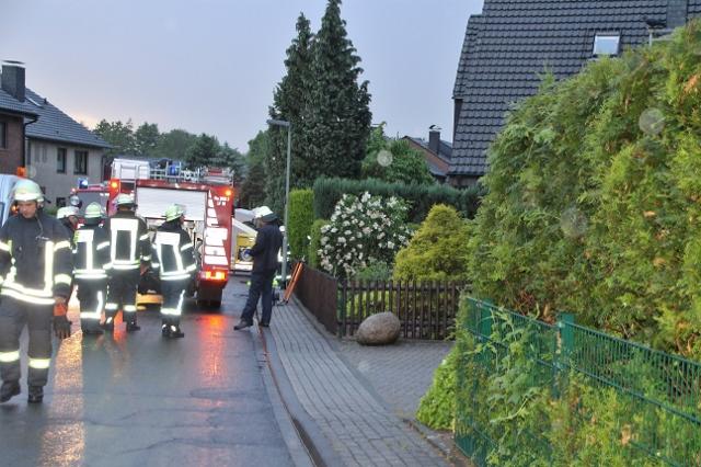 Gleich vier Einsätze hatte die Feuerwehr in Gahlen am Schmetzberg am Montagabend.