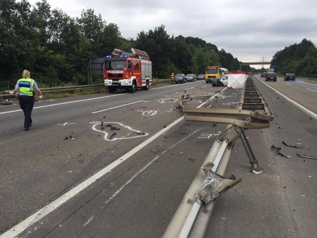 Tödlicher Unfall auf der A31 Dorsten-Schermbeck (1) (640x480)