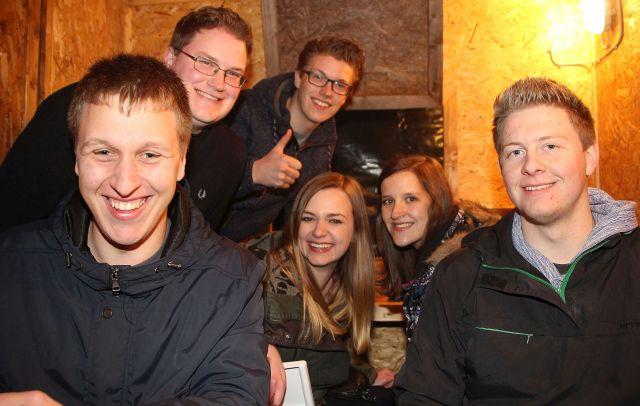 """Die Katholische Landjugend Schermbeck lud Samstagnacht zum traditionellen Nikolausball ein. Für gute Stimmung und fetzige Rhythmen im Festzelt auf dem Rathausplatz Schermbeck sorgte das DJ-Team """"Dj's on Night""""."""