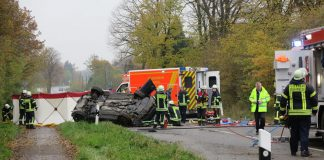 Unfall auf der Erler Straße.