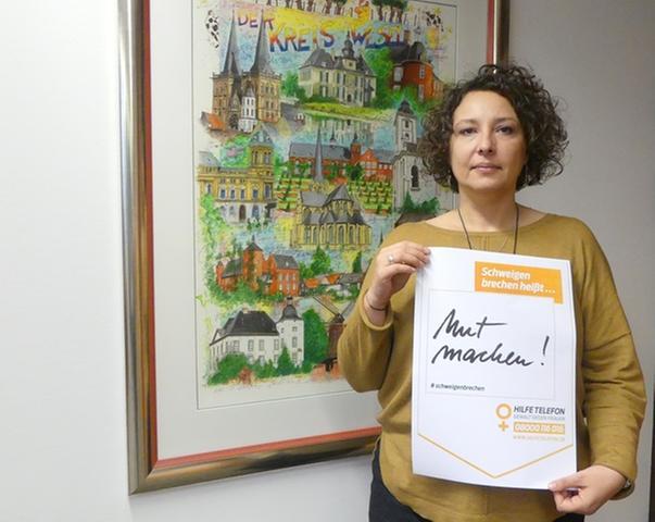 Ein Zeichen gegen Gewalt an Frauen und Kindern