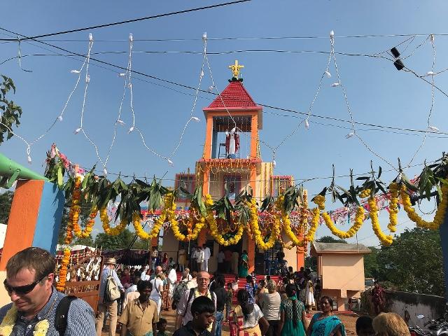 Kircheneinweihung Indien mit Xavier Muppala von der St. Ludgerus Kirchengemeinde Schermbeck