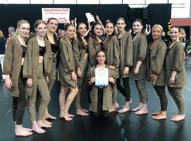 "The Dancing Rebels"" des TC GW nach dem Turnier in Großostheim."