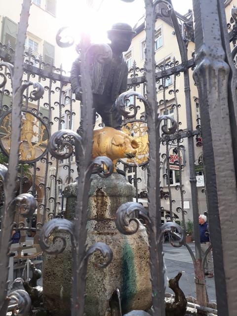 Hans im Glück Brunnen in Stuttgart