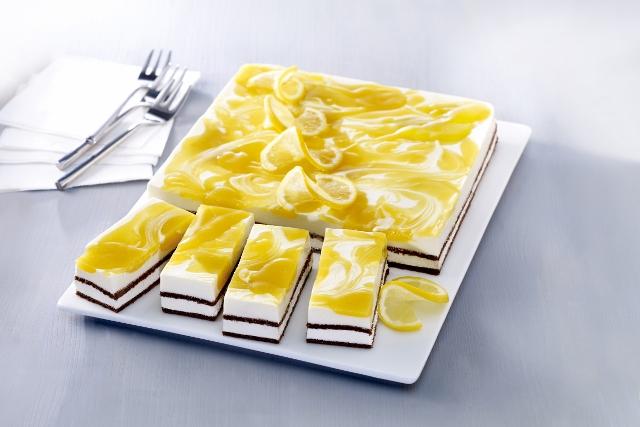 Frischkäse-Zitronen-Schnitten