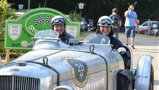 Die Niederrhein-Classic am Sonntag führte durch den Naturpark