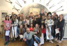 Gruppenfoto Hoesch-Museum mit Hoeschianer Udo Szubyn