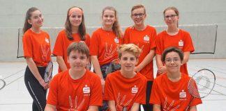 Jugendmannschaft im SV Schermbeck Badminton
