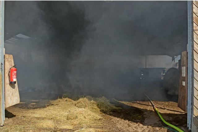 Scheunenbrand am Loosenweg in Damm