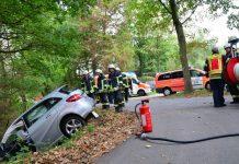 Zwei Verletzte nach Autounfall in Schermbeck