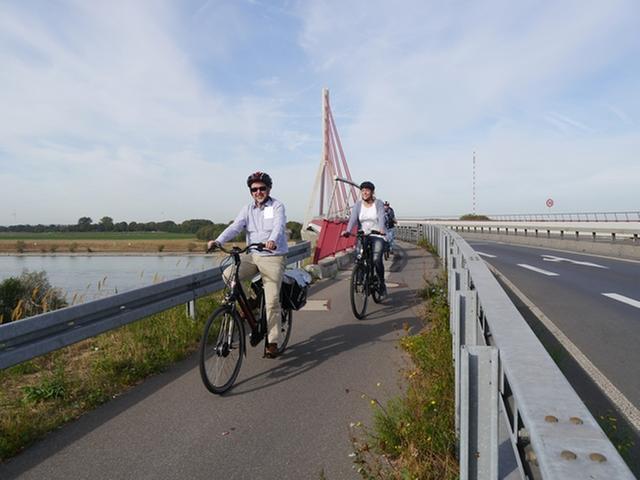 Rheinidyll-Radtour mit dem Landrat Müller