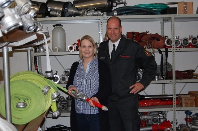Charlotte Quik CDU bei der Feuerwehr Wesel