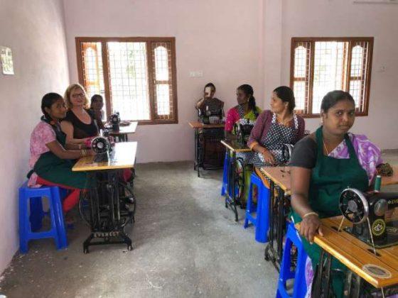 Das neue Nähzentrum in Telugu