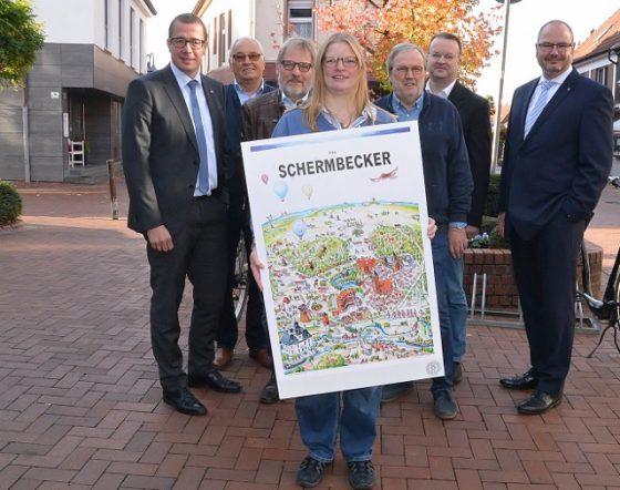 The Schermbecker Wimmelbild von Künstler Hahmann