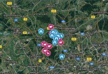 Wolfskarte des Bürgerforums Gahlen im Kreis Wesel