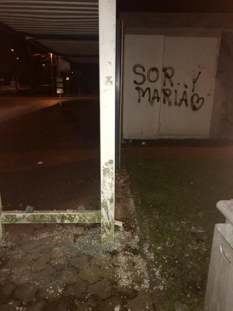 Schermbeck - Graffiti an Polizeiposten und an einer Schule