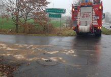 Ölspur in Schermbeck Feuerwehr im Einsatz