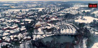 Luftaufnahme Schermbeck im Schnee 2019