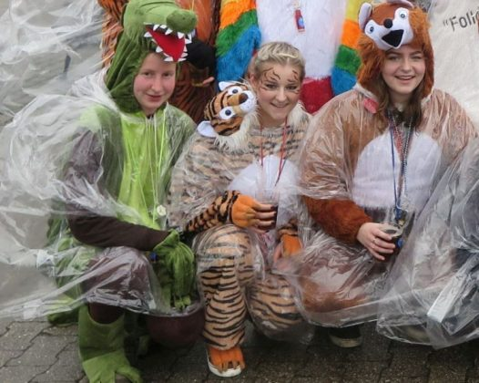 Am zehnten Dammer Karnevalszug beteiligten sich heute zahlreiche Gruppen