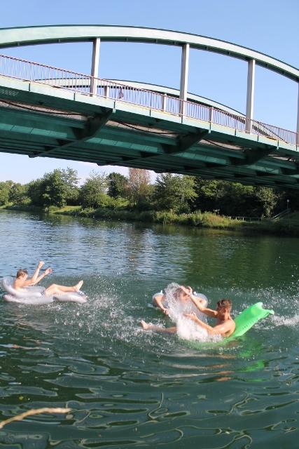 Baden im Kanal Schermbeck